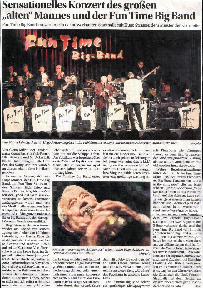 """Sensationelles Konzert des großen """"alten"""" Mannes und der Fun Time Big Band"""